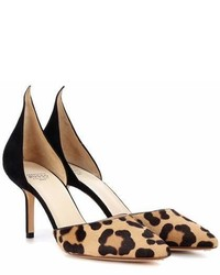 Leopard printed calf hair pumps medium 7012767