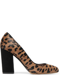 Lydia leopard print calf hair and suede pumps leopard print medium 5260994