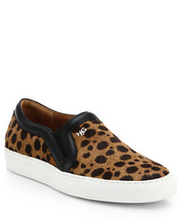 Givenchy Leopard Print Calf Hair Skate Sneakers