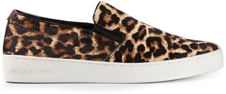 212dec0d3b9d Michael Kors Michl Kors Keaton Leopard Print Slip On Sneakers