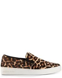 Michael Kors Michl Kors Keaton Leopard Print Slip On Sneakers