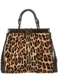 Nancy Gonzalez Crocodile Pony Hair Tote
