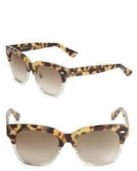 Gucci 52mm Wayfarer Leopard Sunglasses