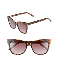 Ted Baker London 53mm Square Cat Eye Sunglasses