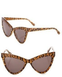Stella McCartney 55mm Leopard Print Cats Eye Sunglasses