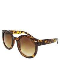Apopo Int'l Brown Leopard Oval Sunglasses