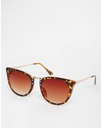 Asos Collection Cat Eye Sunglasses With Metal Nose Bridge