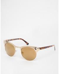 Asos Collection Half Frame Metal Cat Eye Sunglasses
