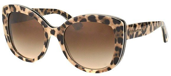 cac2a9299185 Dolce And Gabbana Dg 4233 287013 Leopard Print Cat Eye Plastic Sunglasses