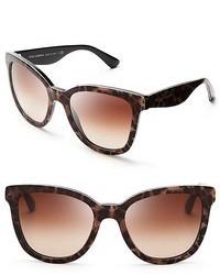Dolce & Gabbana Dolcegabbana Leopard Oversized Wayfarer Sunglasses
