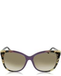 Roberto Cavalli Jabbah 872s Leopard Print Acetate Cat Eye Sunglasses