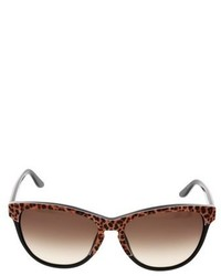 Just Cavalli Jc 515ss 05f Leopard Oval Sunglasses