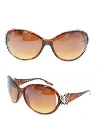 Overstock Leopard Butterfly Fashion Sunglasses