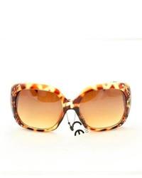 Overstock P10048 Brown Leopard Oversized Sunglasses