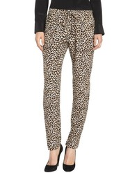 Rebecca Taylor Leopard Drawstring Waist Pants