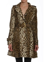 Faux fur leopard trench medium 3639539