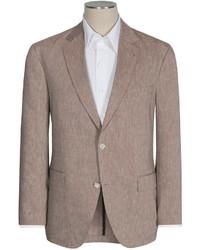 Brown Linen Blazer