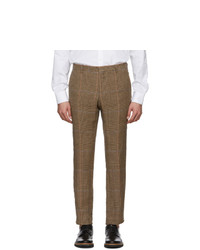 Brown Linen Chinos