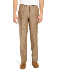 Brown Linen Dress Pants