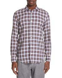 Brown Linen Long Sleeve Shirt