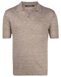 Tagliatore Knitted Linen Polo Shirt