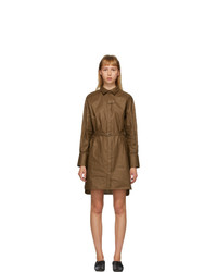 Partow Brown Linen Helena Shirt Dress