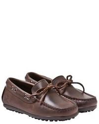 Hackett Dark Brown Leather Loafers