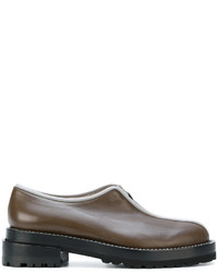 Marni Front Zip Loafers