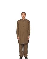 Lemaire Brown Liquette Shirt