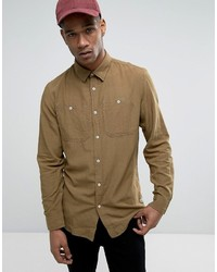 Jack and Jones Jack Jones Vintage Shirt In Slim Fit With Military Pockets