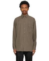Tom Ford Khaki Twill Leisure Shirt
