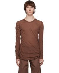 Rick Owens Brown Basic Long Sleeve T Shirt