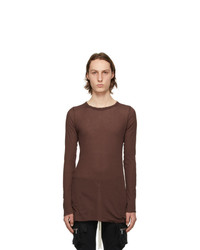 Rick Owens Red Rib Long Sleeve T Shirt
