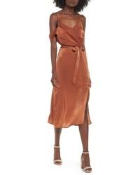 J.o.a. Cold Shoulder Midi Dress