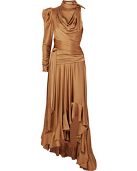 Zimmermann Valiant Open Back Ruffled Satin Maxi Dress