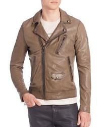 Belstaff Beckenham Leather Military Jacket