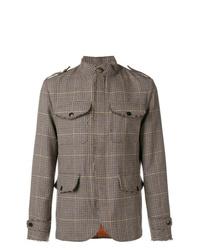 Etro Check Military Style Jacket