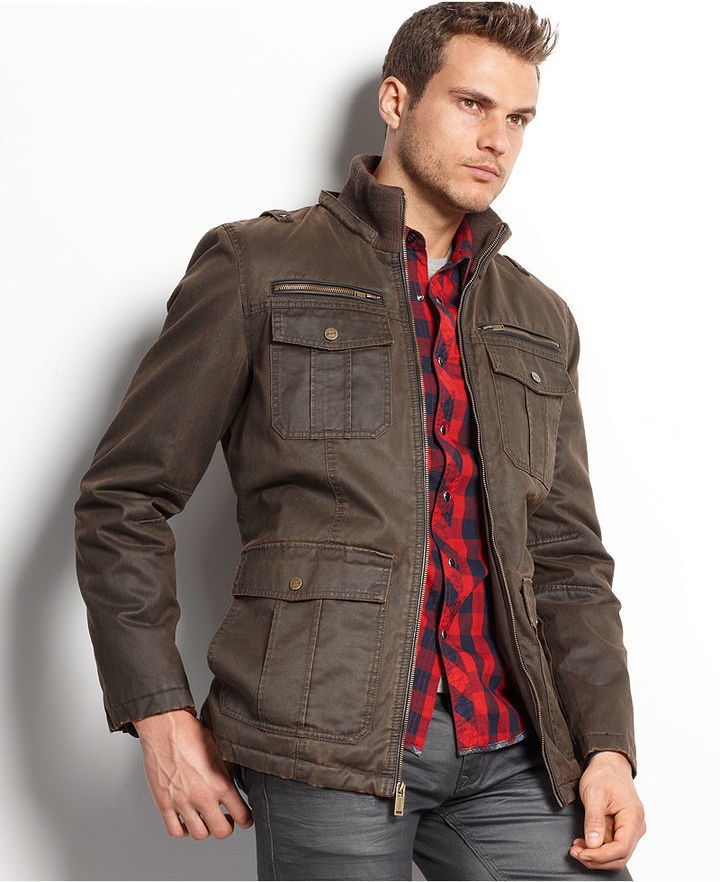 GUESS Coat Antique Finish Hooded Jacket | Where to buy & how to wear