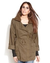 Jessica Simpson Jacket Thorpe Studded Military Cargo Anorak