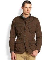 Ralph Lauren Black Label Kilowatt Wax Coated Canvas Military Coat