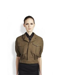 Saint laurent cropped military jacket army medium 359321