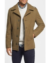 Schott NYC Slim Fit Wool Military Jacket