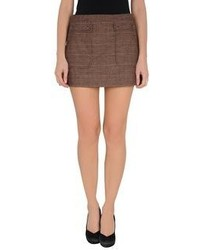 Brown mini skirt original 1460877