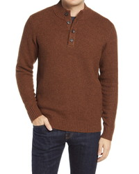 Peter Millar Button Placket Pullover Sweater