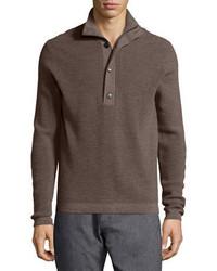 Theory Villen Mock Neck Sweater Brown