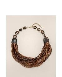Chicos Neutral Tawny Statet Necklace