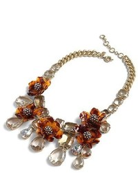 J.Crew Tortoise Look Flower Necklace