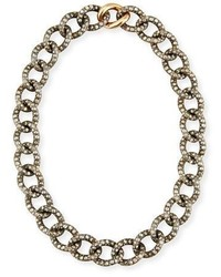 Tango brown black diamond link necklace medium 3679934