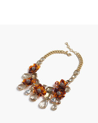 J.Crew Tortoise Flower Necklace