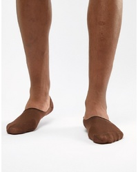 ASOS DESIGN Invisible Liner Socks In Dark Skintone